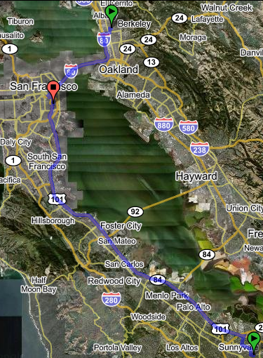 Google Map of our convergence